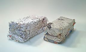 Finished paper briquettes